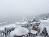 TELEFERIK - Pierre Loti'de Kartpostallık Kar Manzarası