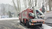 KURTARMA EKİBİ - İçerde dizisi oyuncuları yoğun kar nedeniyle ormanda mahsur kaldı!