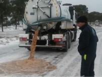 Balıkesir'de Karla Mücadele Aralıksız Sürüyor