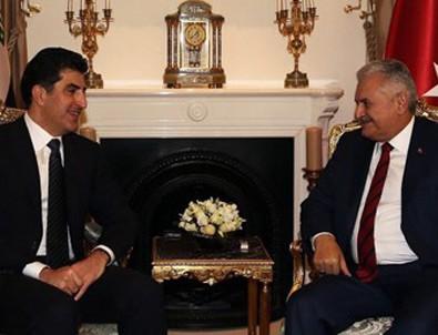 Başbakan Yıldırım, IKBY Başbakanı Barzani ile bir araya geldi
