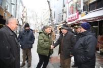 KARTAL BELEDİYE BAŞKANI - Başkan Altınok Öz Kar İle Mücadele Ekiplerini Ziyaret Etti
