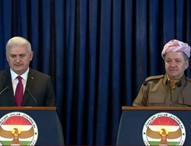 Yıldırım ve Barzani'den ortak basın toplantısı