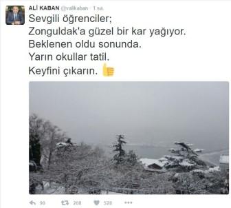 Zonguldak'ta okullar bir gün tatil