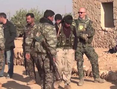 ABD'li askerlerin YPG'li teröristleri eğittiği görüntüler