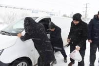 Bursa Bandırma-Bandırma Susurluk Yolu Yoğun Karda Kapandı