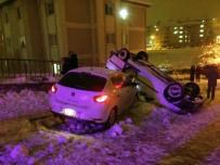 Kayganlaşan Yolda Otomobiller Kaza Yaptı Açıklaması 7 Yaralı