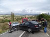 HATALı SOLLAMA - Hisarcık'ta Trafik Kazası Açıklaması 1 Ölü, 4 Yaralı