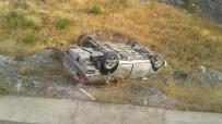 ERKENEK - Otomobil Takla Attı Açıklaması  1 Yaralı