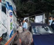 İLKOKUL ÖĞRENCİSİ - Ataşehir'de Kamyonet Otobüs Durağına Daldı Açıklaması 1 Öğrenci Yaralandı
