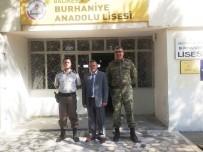 Burhaniye'de Anadolu Lisesi'ne Asker Ziyareti