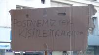 MEMUR - PTT'de Kendisine Sıra Gelmeyen Fırıncı, Tek Kişilik Eylem Yaptı