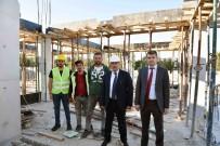 OTOBÜS TERMİNALİ - Taşköprü Şehirlerarası Otobüs Terminali İnşaatı Devam Ediyor