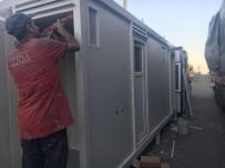 Üzümlü Sınır Kapısında Prefabrik Lavabolar Kuruldu