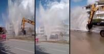 Erzincan'da Su Borusu Patladı, Yollar Göle Döndü