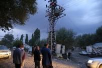 ELEKTRİK TRAFOSU - Varto'da Elektrik Trafosu Patladı