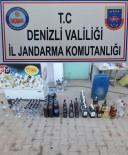 PAMUKKALE - Denizli'de 253 Litre Sahte Alkol Yakalandı