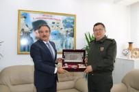 Rektör Bağlı, Jandarma Komutanı Yiğit'i Ziyaret Etti