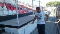 Burhaniye'de 8 Eylül Stadı Bakıma Alındı