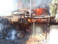 KAKLıK - Denizli'de Yangın Paniğe Neden Oldu