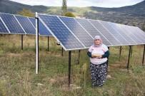 TEMİZ ENERJİ - Evinin Bahçesine Güneş Enerji Santrali Kuran Kezban Teyze Devletten Destek Bekliyor