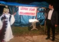 SİLAHA HAYIR - Gelinle Damat Pankart Asarak Silah Attırmadı