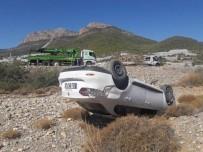 Mersin'de Otomobil Dereye Uçtu Açıklaması 1 Yaralı