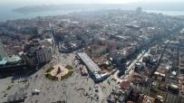 İSLAM - Taksim Camii'nin Son Durumu Havadan Görüntülendi