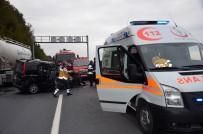 Otomobil Mobese Direğine Çarpıp Takla Attı Açıklaması 1 Yaralı