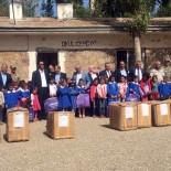 FEDERASYON BAŞKANI - Şenkaya'da 68 Köy İlköğretim Okuluna Kırtasiye Yardımı
