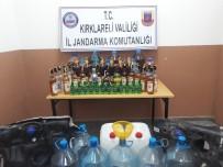 105 Litre Kaçak İçki Ele Geçirildi