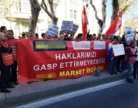 BAŞKONSOLOSLUK - Alman Şirketlerinden Çıkarılan İşçilerden, Başkonsolosluk Önünde Eylem