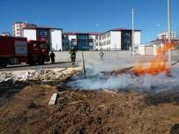ANADOLU İMAM HATİP LİSESİ - Anız Yangını İnşaat Kalıplarına Sıçradı