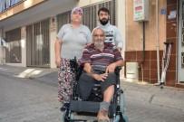 TEKERLEKLİ SANDALYE - Efeler Belediyesi Engelli Vatandaşın İsteğini Yerine Getirdi
