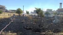 Midyat'ta Mezarlıkta Yangın