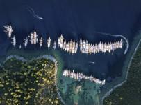 Havadan Görüntülenen Yelken Yarışları Görsel Şölene Sahne Oldu