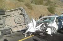 Öğrenci Servisiyle Otomobil Çarpıştı Açıklaması 1 Ölü, 22 Yaralı