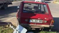 Otomobil Hasta Taşıyan Ambulansla Çarpıştı Açıklaması 4 Yaralı