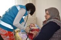 Evde Sağlık Hizmetleri Birimi Doktorları Şahin'i Muayene Etti
