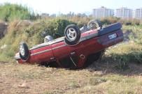 Otomobil Tarlaya Uçtu, İki Kişi Yaralandı
