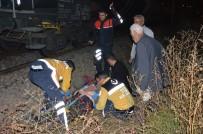 YÜK TRENİ - Yük Treninin Çarptığı Alkollü Şahıs Yaralandı