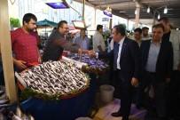 ALTıNKUM - Başkan Böcek, Pazarcı Esnafını Ziyaret Etti