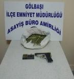 RUHSATSIZ SİLAH - Gölbaşı'nda Silah Ve Uyuşturucu Ele Geçirildi