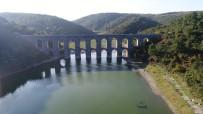 TERKOS - Su Seviyesi Azalan Alibeyköy Barajı Havadan Görüntülendi
