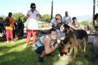 AHMET KESKIN - Down Sendromlu Çocuklar Sokak Hayvanlarına Yem Bıraktı