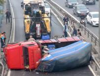 E5 KARAYOLU - İstanbul'u kilitleyen kaza