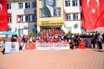 DAVUL ZURNA - Kumluca'da Dördüncü Cumhuriyet Yürüyüşü Gerçekleştirildi