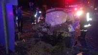 GELENBE - Manisa'da Trafik Kazası Açıklaması 1 Ölü, 3 Yaralı