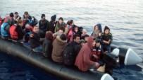 KAÇAK - Kuşadası Körfezi'nde 12'Si Çocuk 42 Kaçak Göçmen Yakalandı