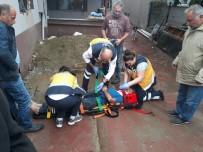 ÇAY OCAĞI - 3 Metre Yükseklikteki Çatıdan Düşen İşçi Yaralandı