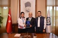 OSMAN GÜRÜN - Dünya Şampiyonu Okçu'dan Başkan Gürün'e Ziyaret
